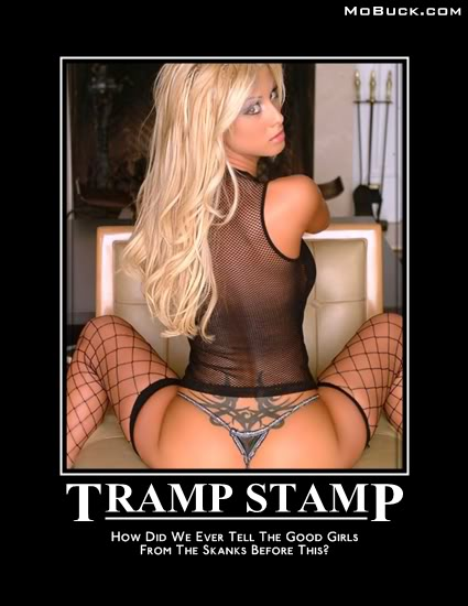 """""""Tramp Stamp"""" is a derogatory term referring to a tattoo which a women"""